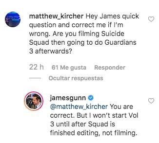 Las grabaciones de 'Guardians of the Galaxy Vol. 3' depende de 'The Suicide Squad' James-Gunn-dice-que-su-prioridad-es-The-Suicide-Squad-