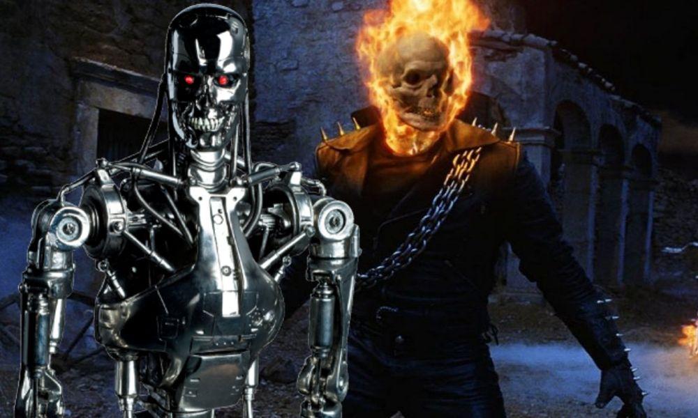 Ghost Rider al estilo Terminator