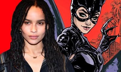 Zoe Kravitz personificada como Catwoman