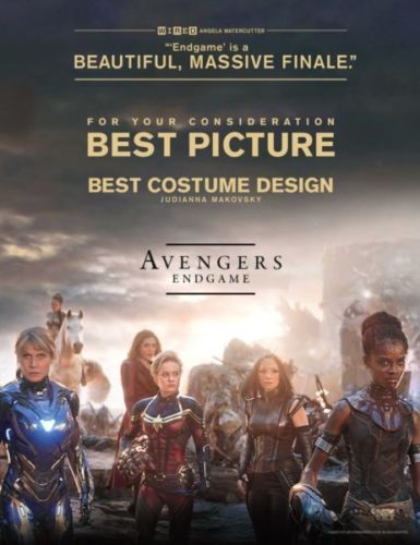 Revelan los cárteles de la campaña de 'Avengers: Endgame' rumbo al Oscar ca%CC%81rteles-de-avengers-endgame-rumbo-al-oscar-1-385x500