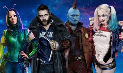 elencos de Suicide Squad y Guardians of the Galaxy