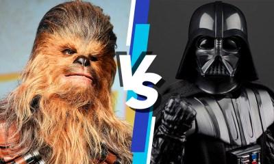 Darth Vader contra Chewbacca