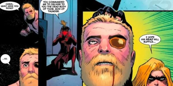 Marvel reveló que Captain Marvel mata a un Avenger Thor-Death-600x299