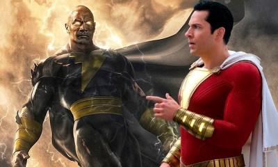 pelea entre Shazam y Black Adam
