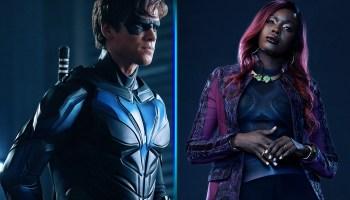 Trajes de Nightwing y Starfire
