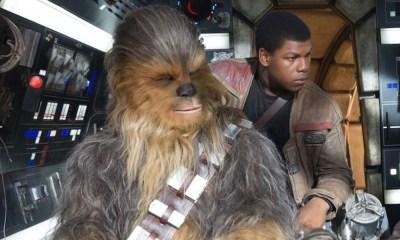 Detrás de cámaras de Finn y Chewbacca