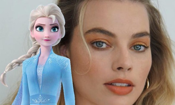 Margot Robbie como Elsa de Frozen