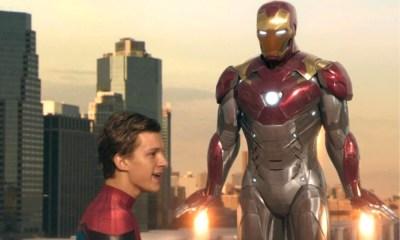secuencia original de Iron Man rescatando a Spider-Man