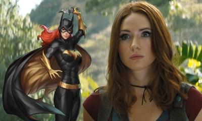 Karen Gillan con el traje de Batgirl