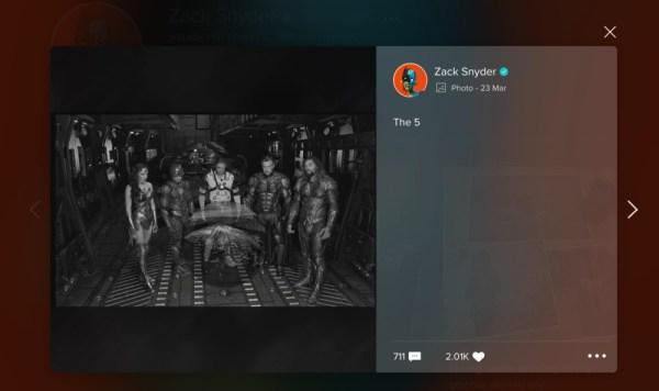 Nueva imagen de Zack Snyder sobre la Justice League