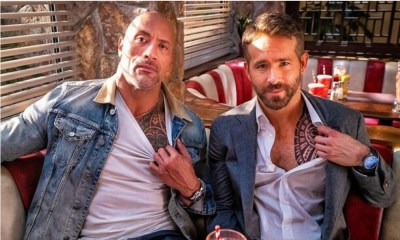 Ryan Reynolds imitó a Dwayne Johnson
