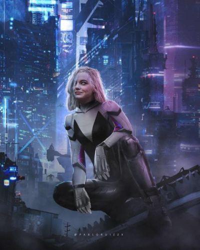 ¡Adiós Spider-Man! Así se vería Emma Stone como Spider-Gwen 101647601_129708532063286_8255356906886034214_n-400x500