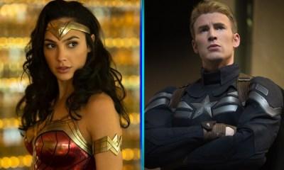 fan art de Captain America y Wonder Woman