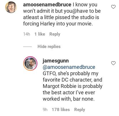James Gunn defendió de los haters a uno de los personajes de 'The Suicide Squad' james-gunn-defendio-a-harley-quinn-1