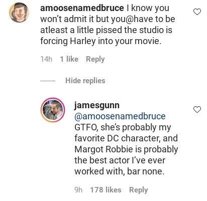 James Gunn defendió a Harley Quinn