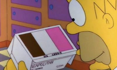 Misterio del helado de Los Simpsons