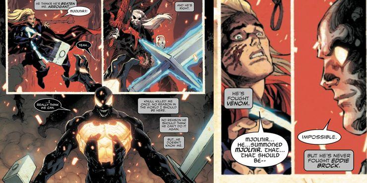 El icónico momento de Captain America fue copiado por un villano de Marvel venom-marvel-comics-mjolnir-upgrade