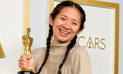 Angelina Jolie reacciona al Oscar de Chloe Zhao