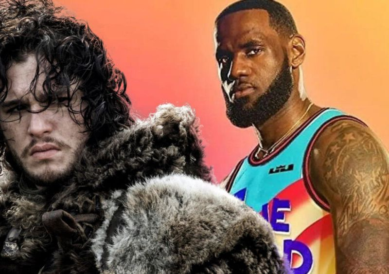 LeBron James con armadura de 'Game of Thrones'