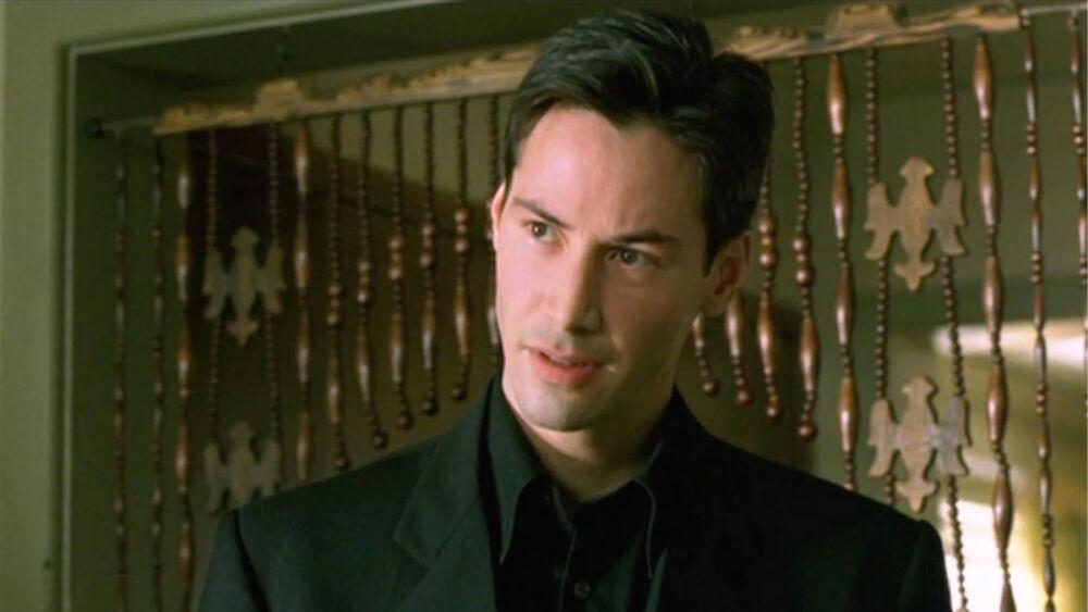 look de Keanu Reeves en The Matrix 4