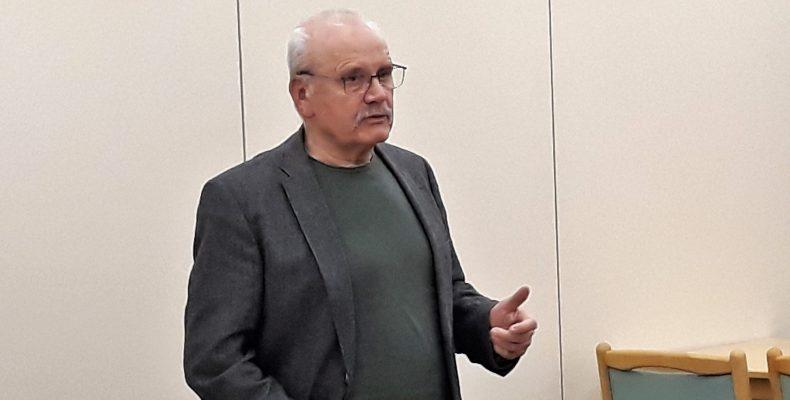 Walter Jertz auf der Mitgliederversammlung von WfO am 31. Januar 2019