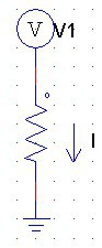 Nodal analysis circuit with the reference node