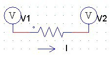 Nodal analysis circuit with a resistor