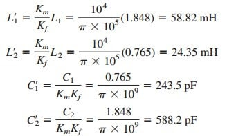 magnitude and frequency scaling