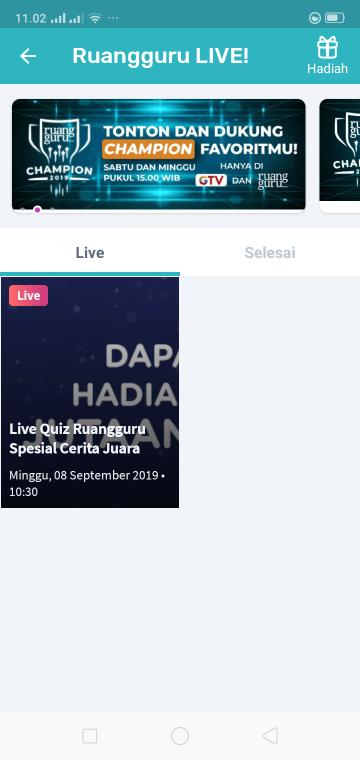 live quiz rungguru