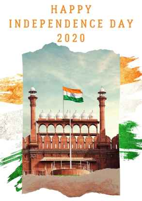 India Red Fort Photo Independence Day Poster