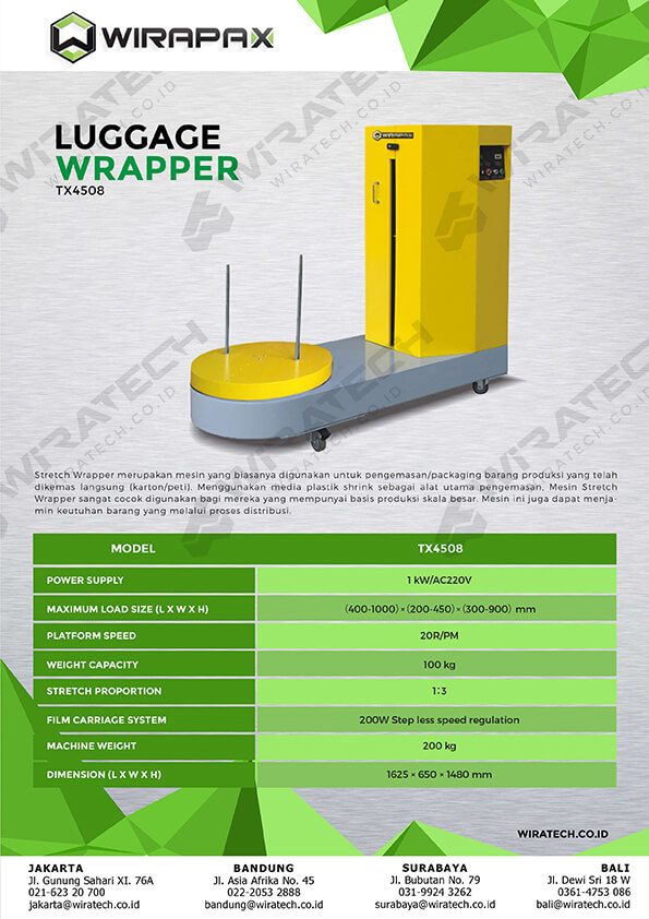 luggage wrapper TX4508