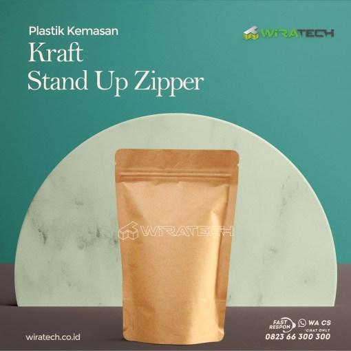 kraft stand up zipper cover