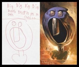 Wie Kinderzeichungen realistisch gemalt aussehen 1