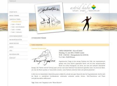 Illustrationen für die bestehende Website einer Tanzlehrerin 1