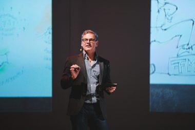 Wolfgang Irber erklärt sein Graphic Recording