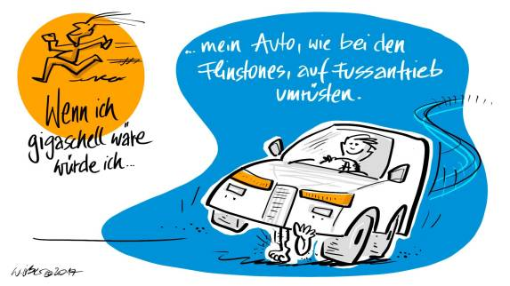 Fussantrieb Cartoon