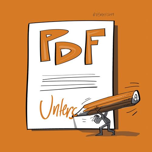 PDF mit dem Stift unterschreiben