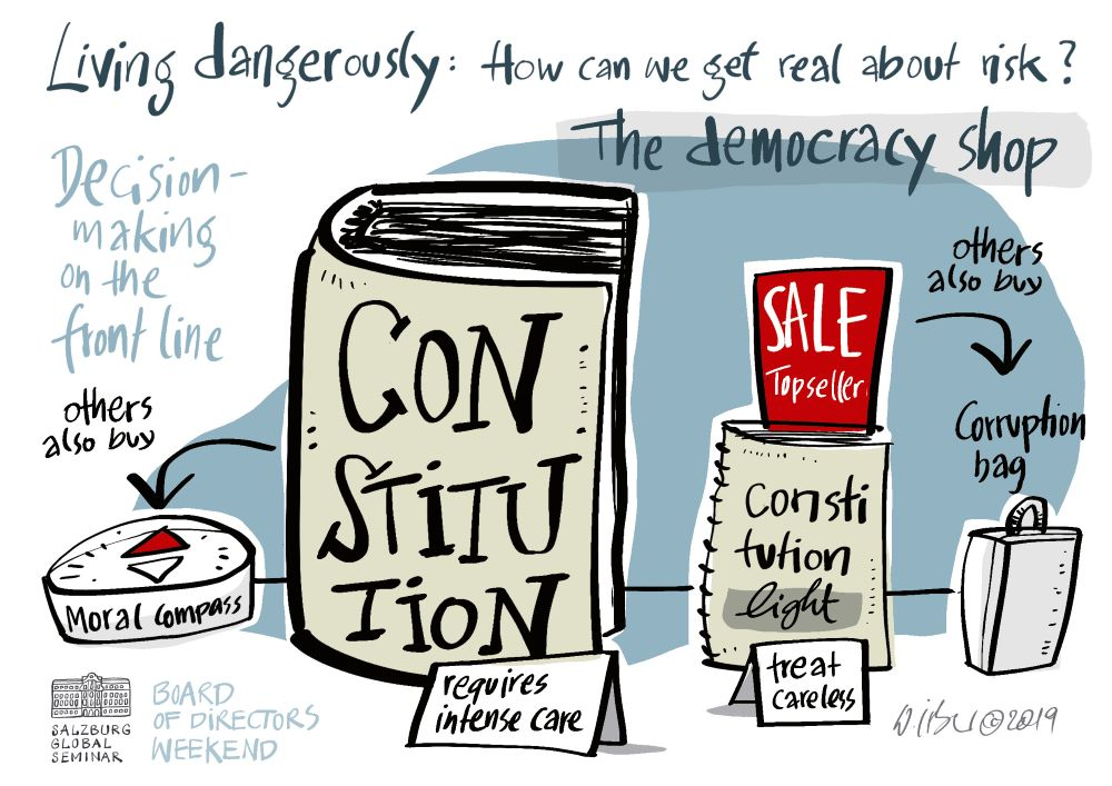 Constitution and the democracy shop