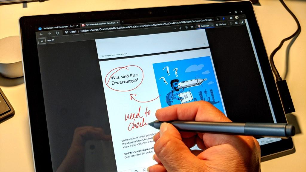 Ein Plädoyer für mehr Stift in der digitalen Welt - die Verwendung des Surface Pen im Büroalltag 14