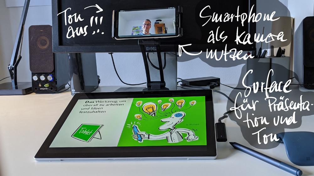 Die bessere Videokonferenz mit Stift & Touch 8
