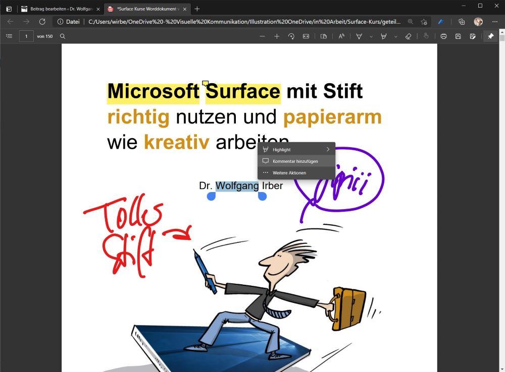 Ein PDF mit dem digitalen Stift bearbeiten: komplizierter als man denkt 8