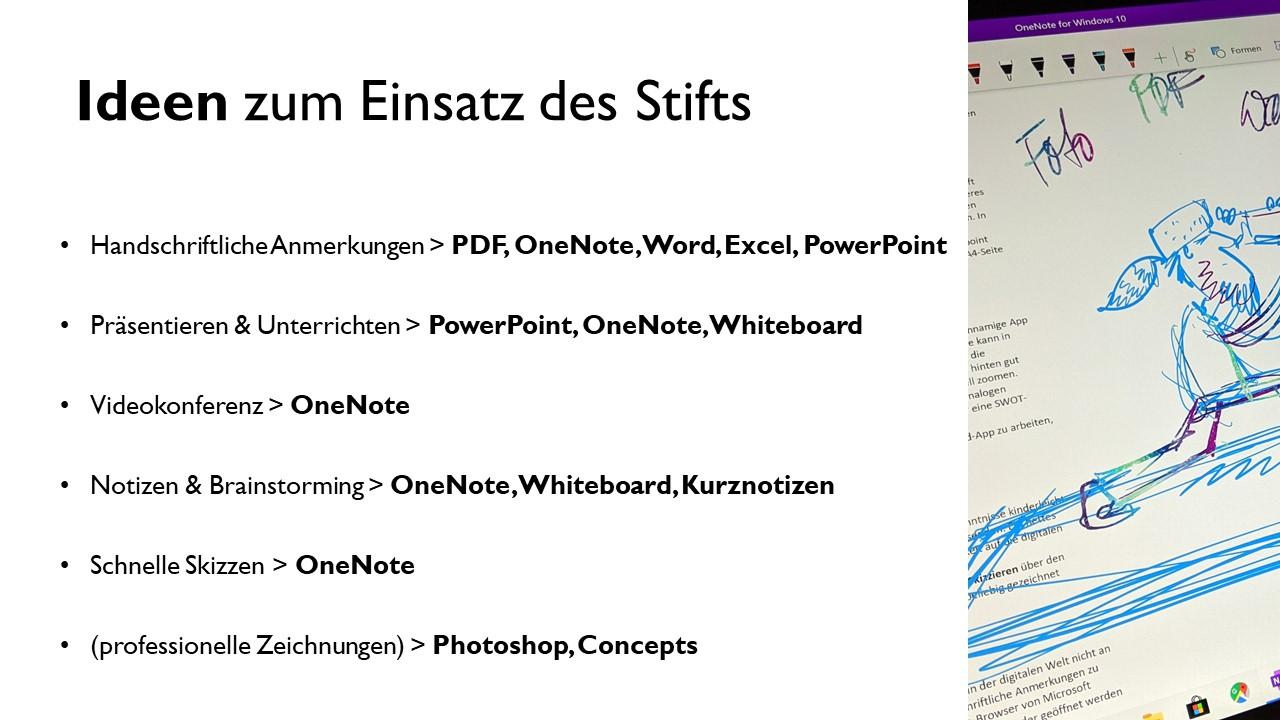 Basiskurs : Microsoft Surface mit Stift richtig nutzen und papierarm wie kreativ arbeiten 3