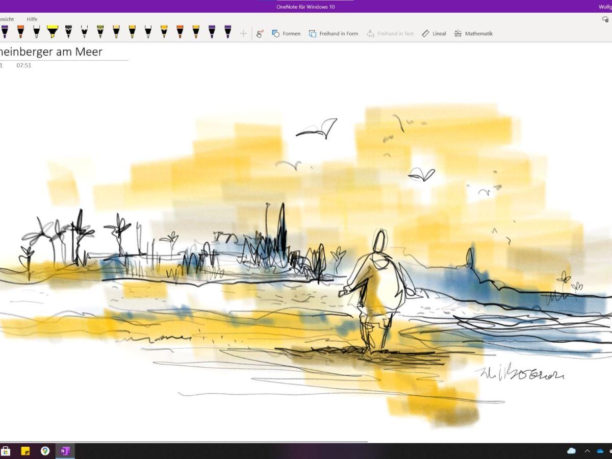 Zeichnen in Onenote fuer Windows 10