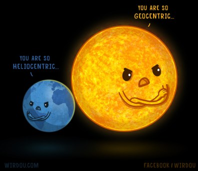 heliocentric-geocentric