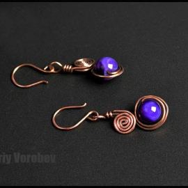 Wire Wrapped Earrings. How to make a earrings step by step