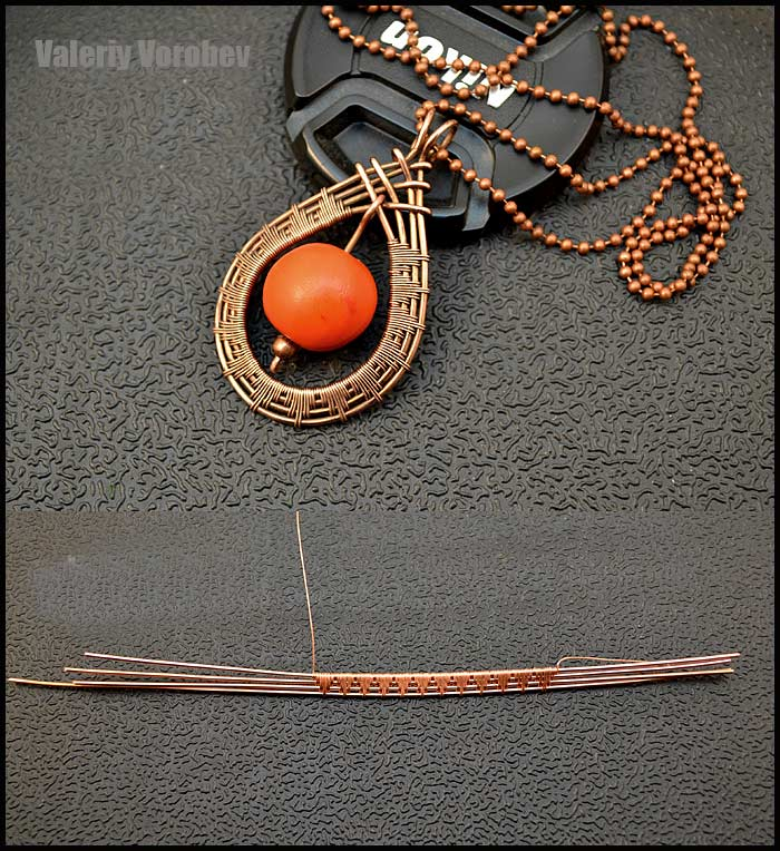 Jewelry making basics. How to Make Wire Wrapped pendant.