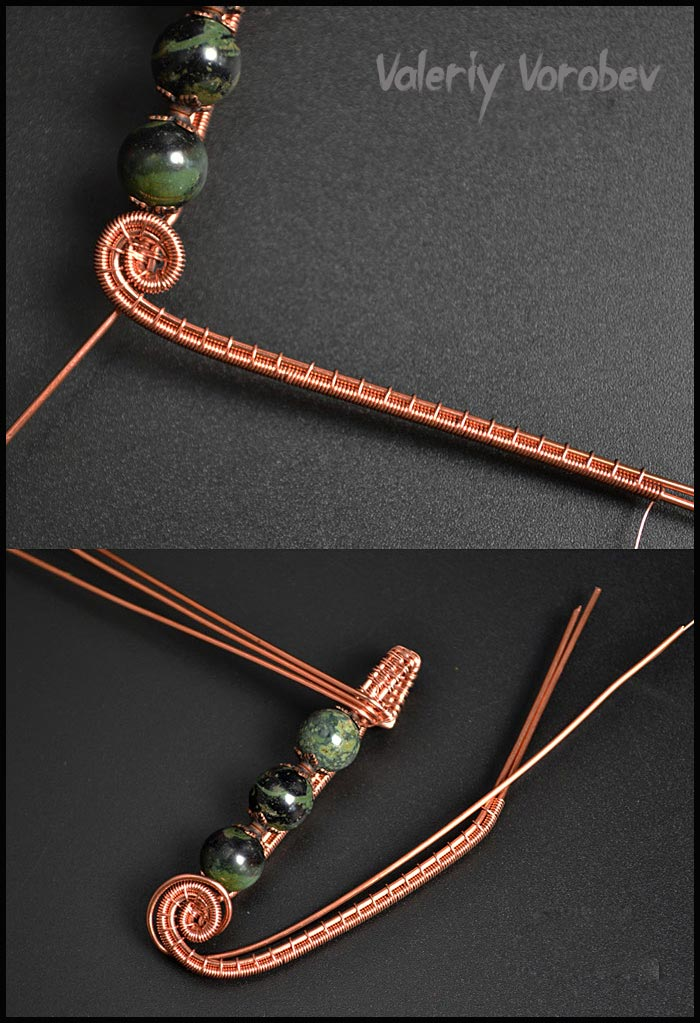 How to make wire wrapped pendant step by step