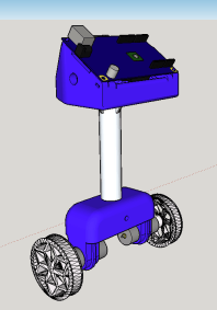 A 3D assembly of the self-balancing robot.