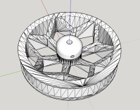 The 3D design for the two wheels of the self-balancing robot.