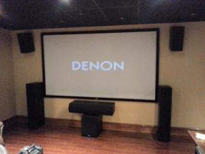 "120""  fixed mount theater grey screen"